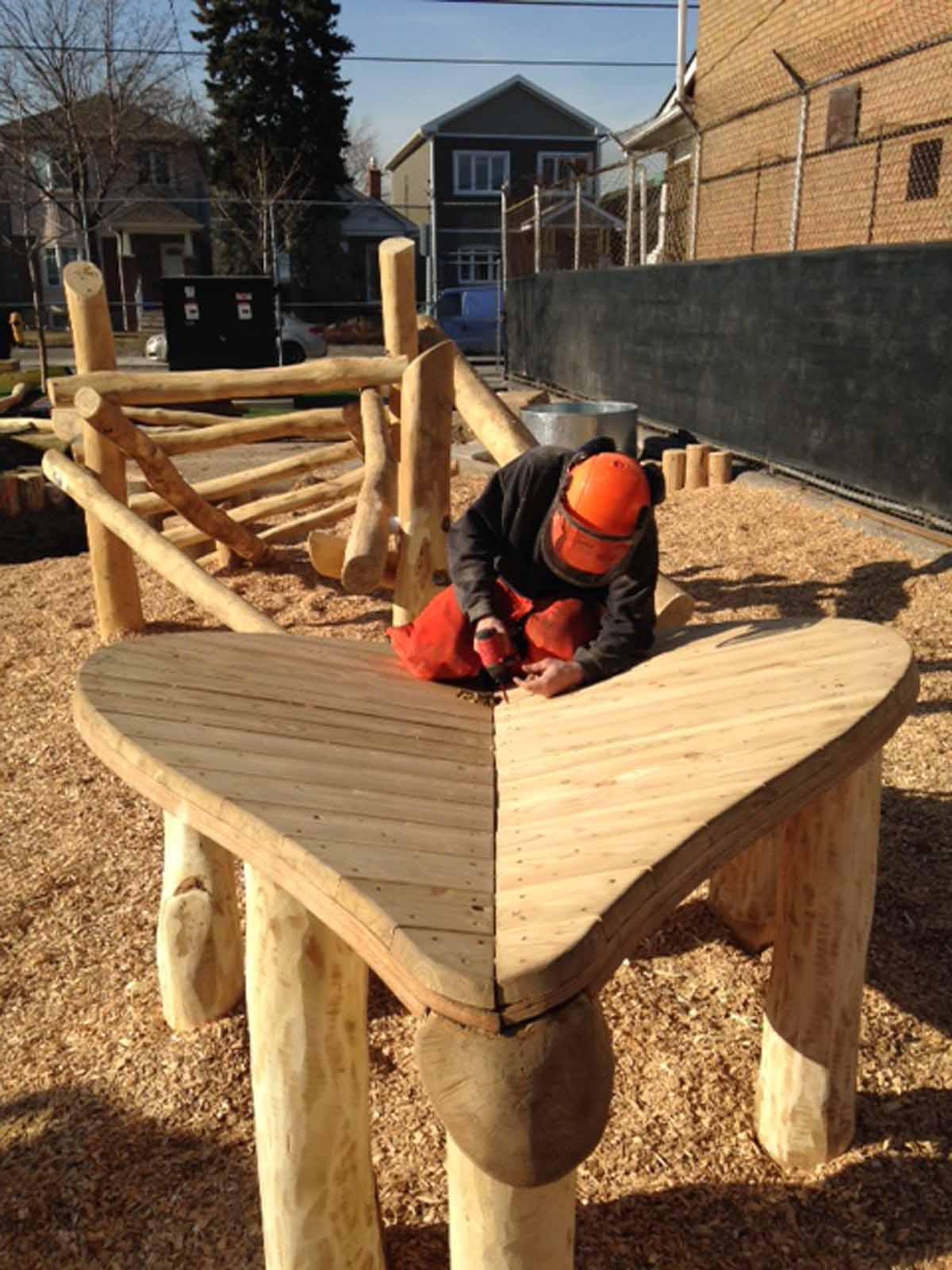 wood playground equipment ontario log jam