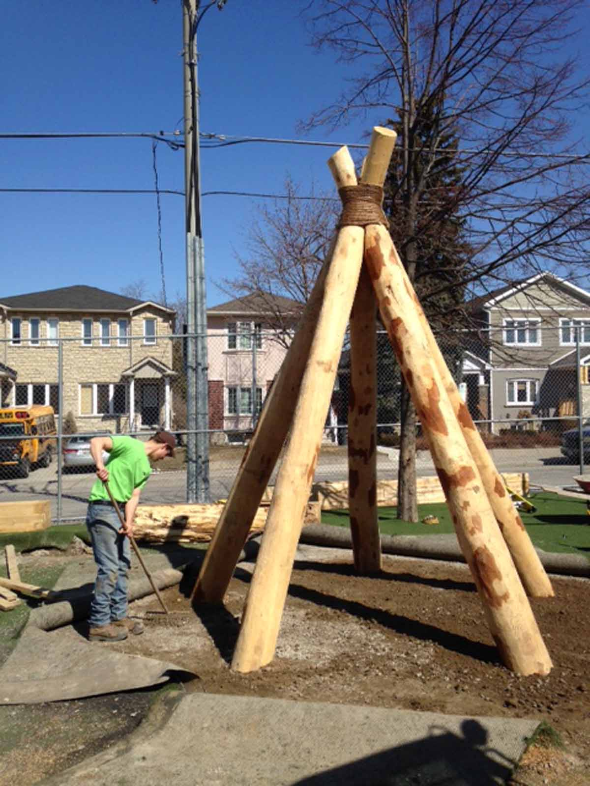 Wood Playground Equipment Ontario Tee