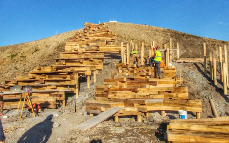 timber playground commercial construction