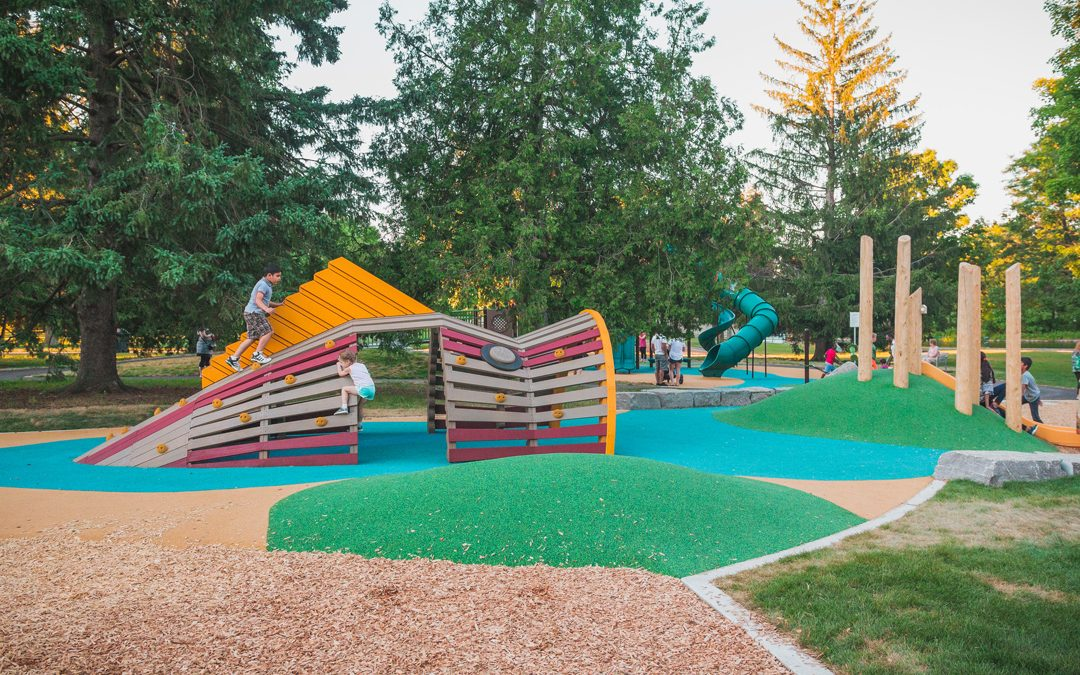 accessible playground outdoor natural custom build local