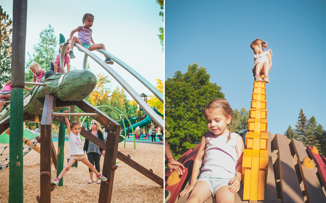 riverside park structures playground natural