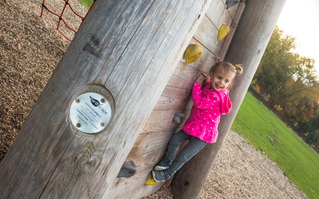 climbing wall playground natural