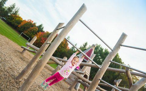 hanging bars natural playground