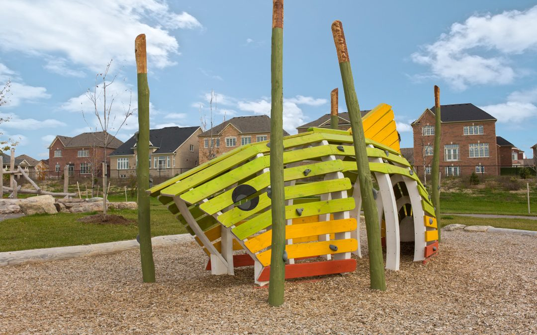 metrus fish themed sculpture playground