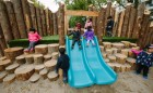natural play slide