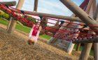natural playground climbing net