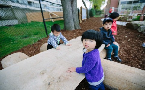 natural preschool playground