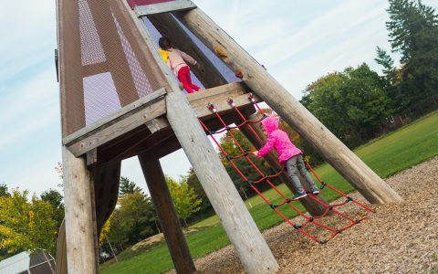 teepee climbing structure natural playground