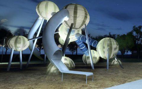 Night playground design structure science best custom