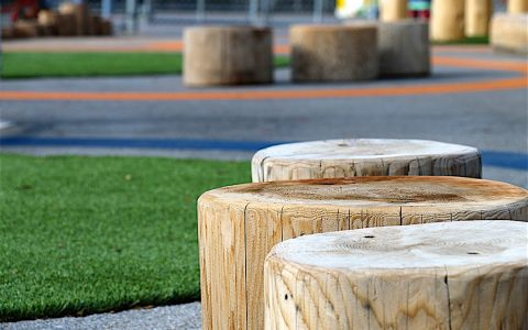 natural playground logs steppers
