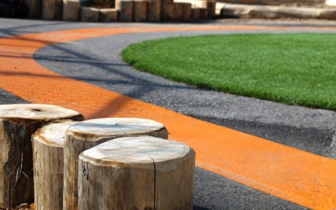 natural playground painting asphalt turf