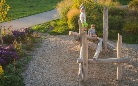 log jam play outdoor playground natural