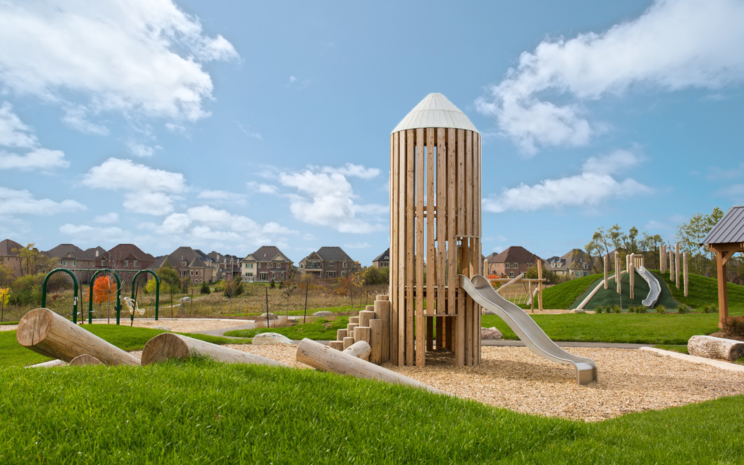 barn silo tower wood natural playground