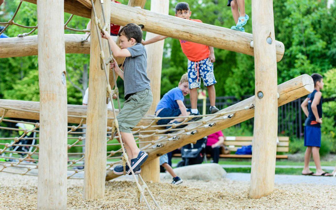 climbing log jam wood custom play
