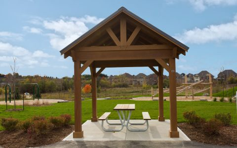 playground natural themed pavilion shade structure