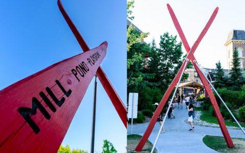 sign sculpture art custom playground