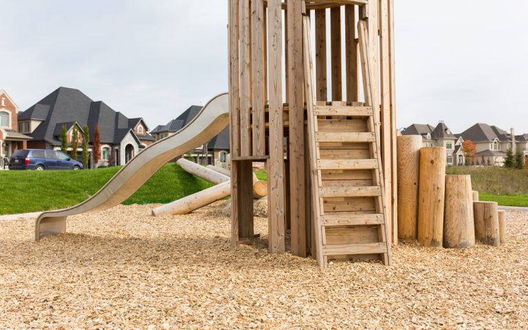 slide playground themed wood natural tower