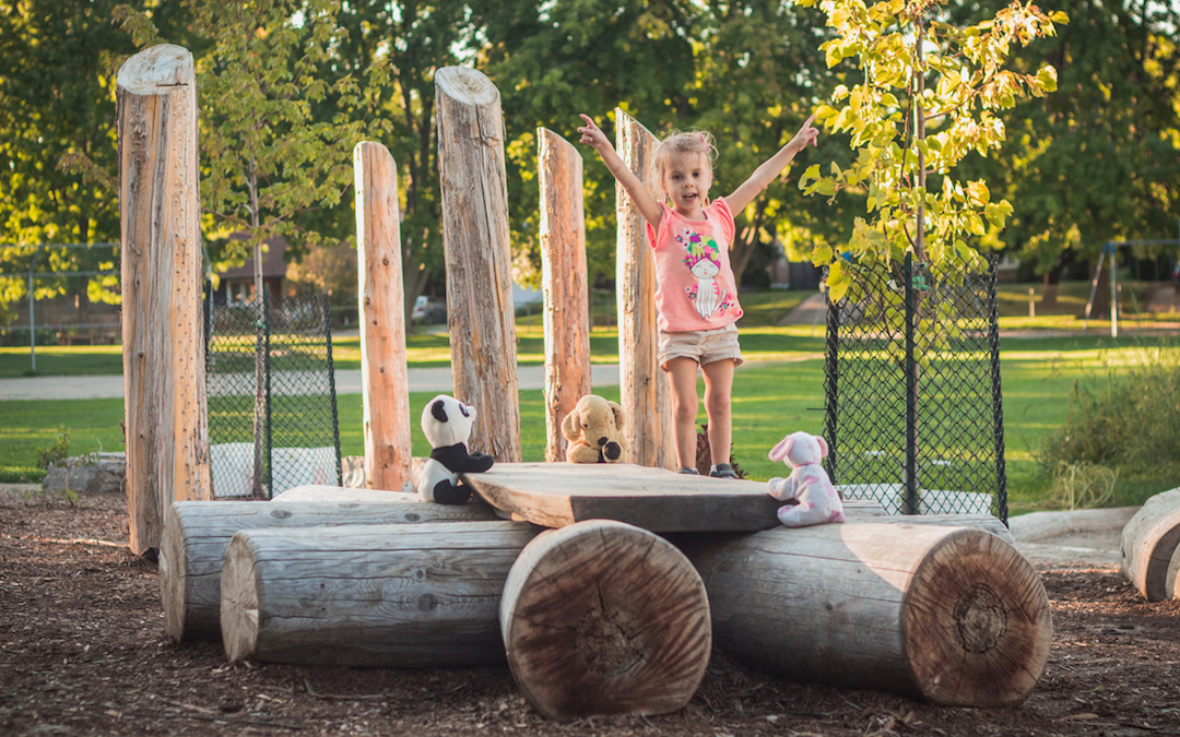 natural playground play posts discovery table outdoor