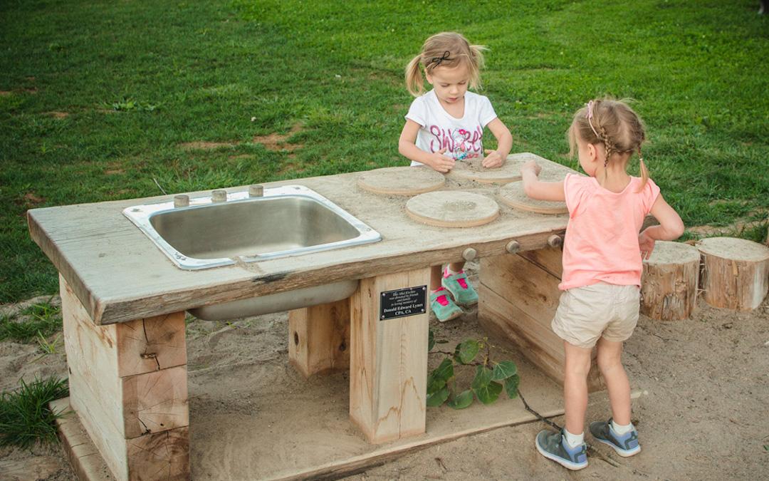outdoor kitchen natural playground