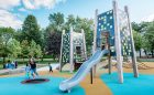 Wood towers panels wood playground
