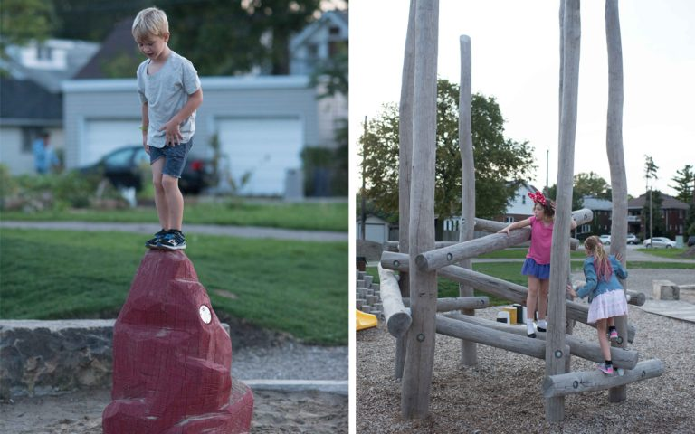 Windsor ontario playground wood climbers