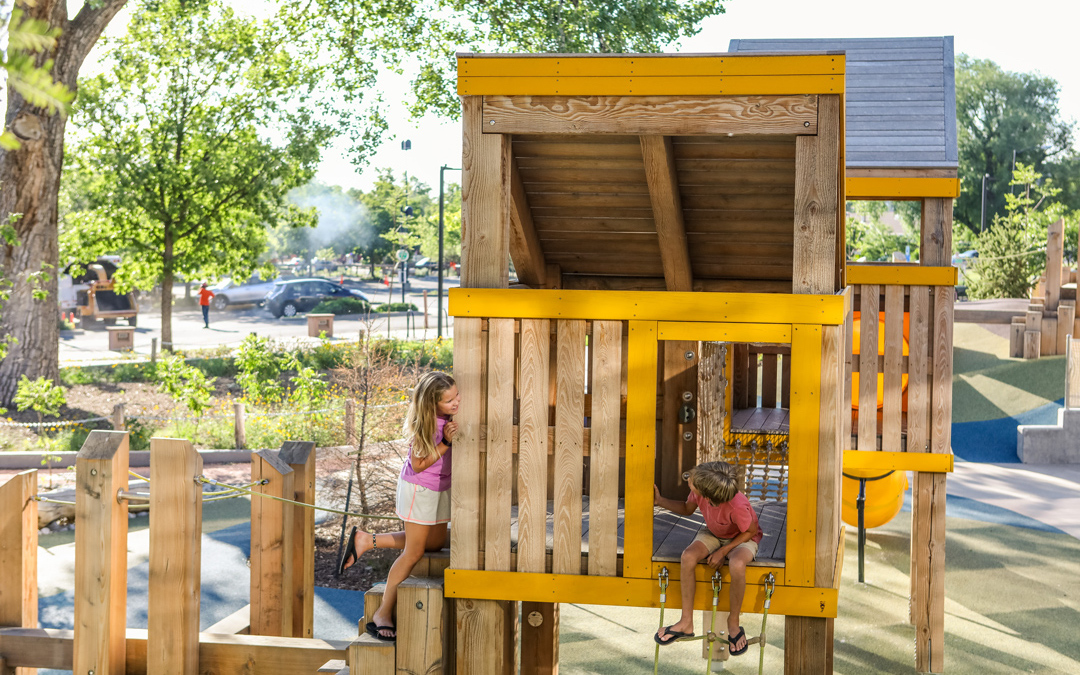 natural playspace inclusive wood playground