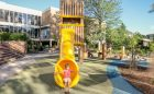 tube slide playground tower play space