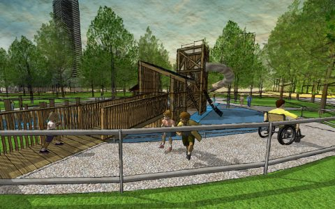 playground accessible natural towers inclusive