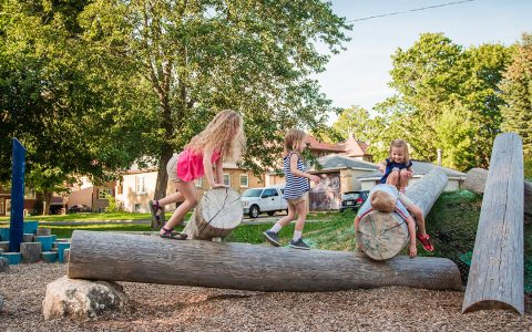 gildner green log climber play
