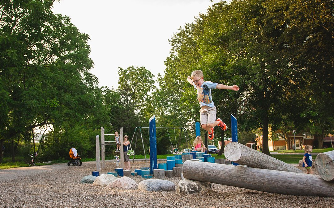 gildner green playground stepper boulders logs