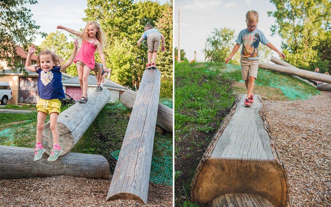 gildner green sawn log natural play