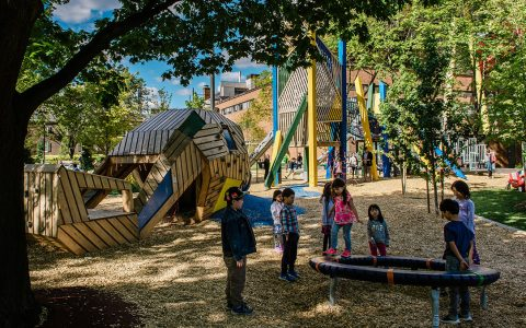 art gallery ontario playground wood sculpture Grange Park