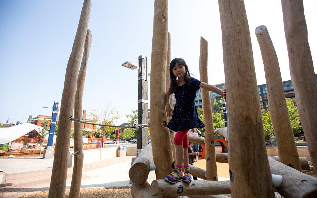 lisgar park wood log climber