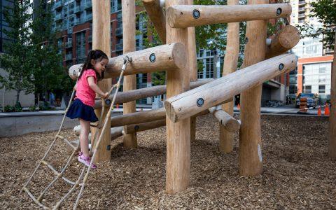 wood and net climber custom
