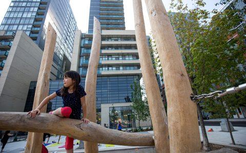 wood playground climber toronto