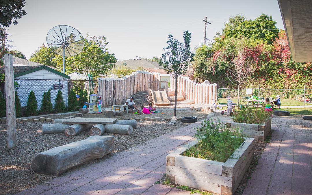 natural child care playground