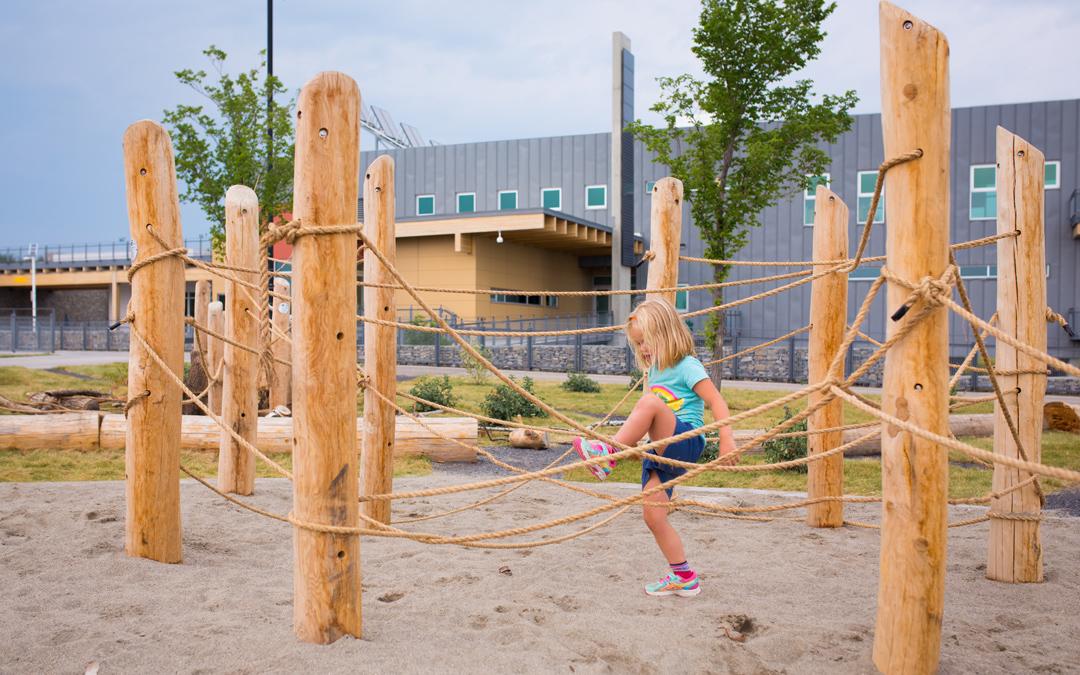 natural playground loose play rope