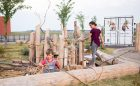 natural playground loose play wood rope explore discover playground
