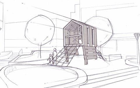 seattle wood modern playground city