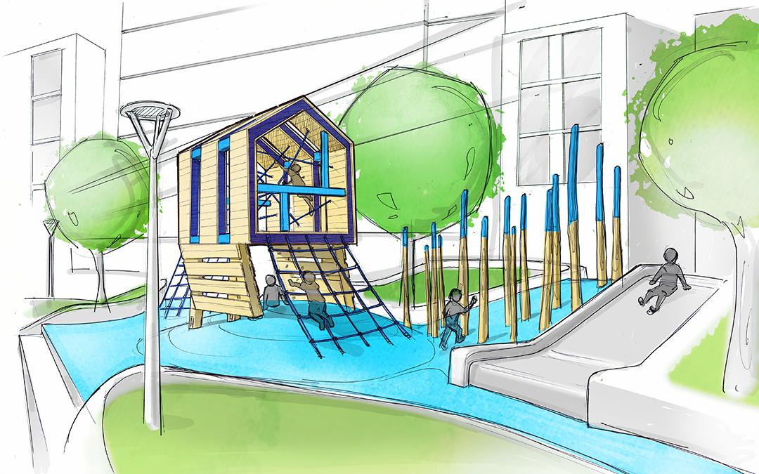 westlake lenora seattle modern wood playground