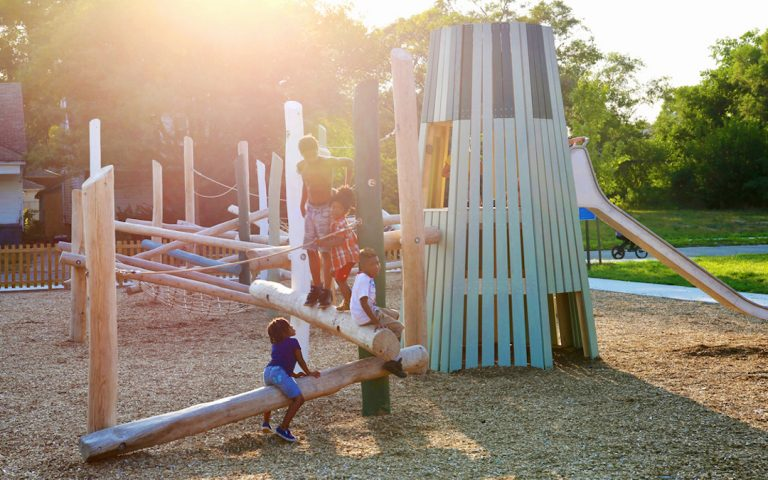 playground climbing kids playing play active themed park detroit