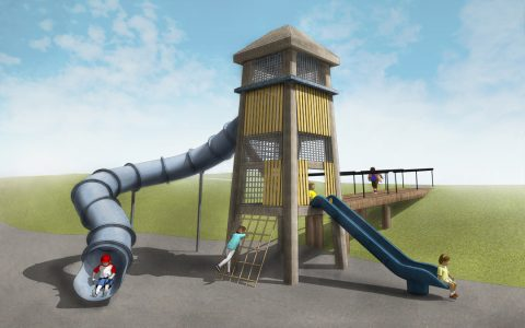 bozeman montana natural playground fire tower slide accessible