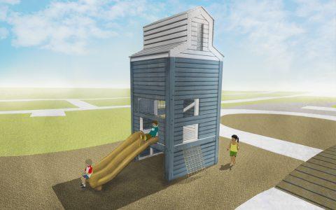 story mill park bozeman grain elevator tower junior playground slide