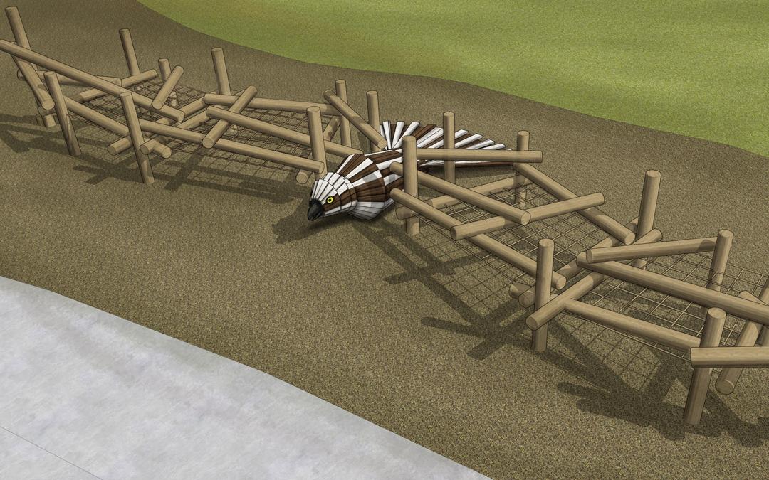 story mill park playground bozeman MT osprey bird sculpture