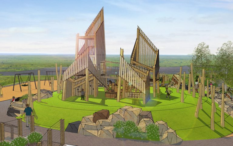 wanuskewin heritage park historic site playground interpretive theme natural wood