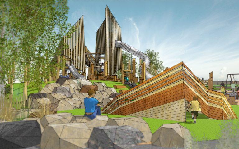 wanuskewin saskatchewan custom wood playground abstract