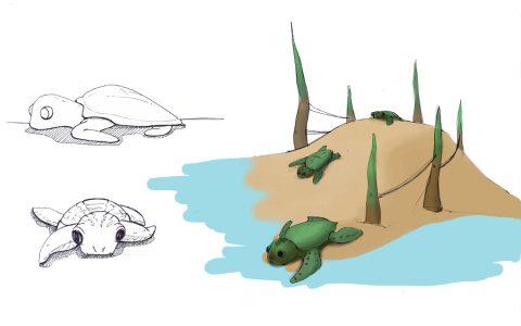 St Petersburg natural playground adventure logs turtles sculptures