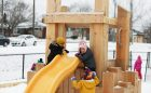 todays family franklin childcare hamilton ontario wood playground slide