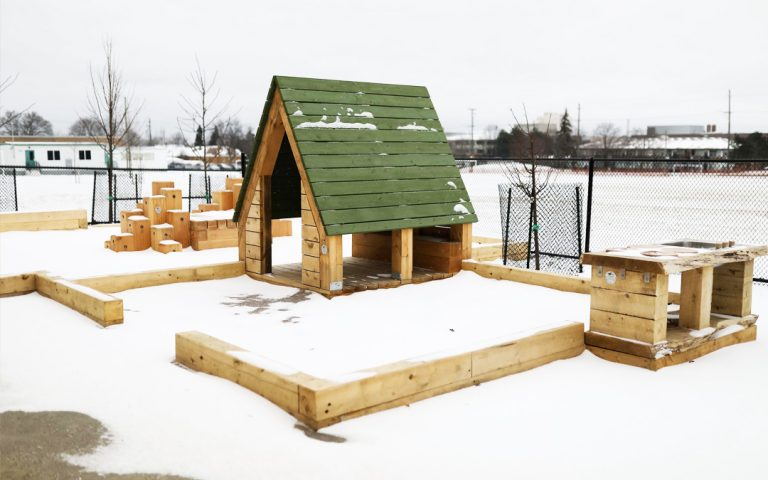 todays family hamilton child care natural wood playground hut