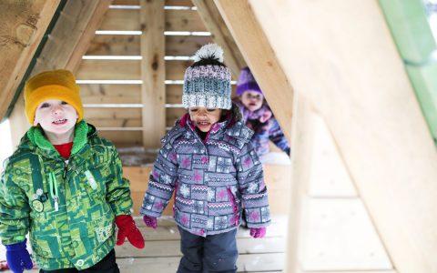 todays family hamilton ontario child care centre wood playground hut